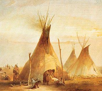Tipis Sioux. Karl Bodmer (1833)