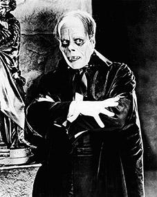 El actor Lon Chaney en El-Fantasma-de-la-opera. 1925