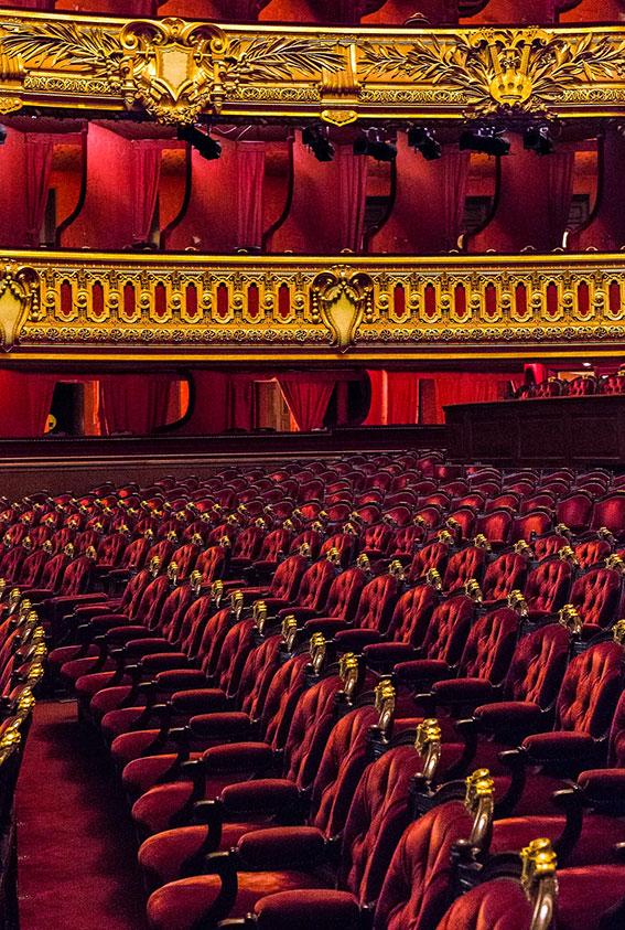 Palcos y Butacas del Teatro Opera Garnier, París